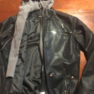 Black jacket men's - Asian size.